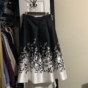 WHBM formal floral skirt